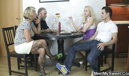 Veronica Leal recibe un duro gangbang videos x doblados al español con DP y come semen